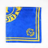 Logotipo de seda impresso onda do costume do lenço do lenço quadrado da forma