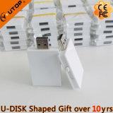 Movimentação feita sob encomenda do flash do USB dos presentes das formas do livro do logotipo (YT-1142)