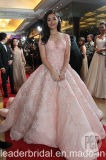 Vestidos de esfera cor-de-rosa do laço que perlam o vestido de casamento cor-de-rosa B197