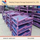 Gabbia del supporto impilata maglia accatastabile industriale del filo di acciaio di memoria del magazzino