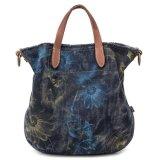 Bolsa lavada da lona das calças de brim, sacos da senhora Tote da forma, saco de ombro de compra