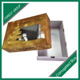 상단과 바닥 투명한 포장 상자