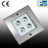 luz cuadrada de Inground de la cubierta del CREE 4W LED de 125m m, luz inoxidable del suelo de acero