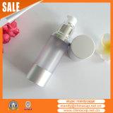 frasco cosmético dos soros da bomba mal ventilada de prata Matte de 15ml 30ml 50ml 100ml
