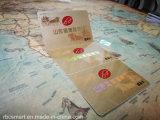Напечатанное таможней удостоверение личности RFID откалывает франтовской E-Билет Hf визитной карточки