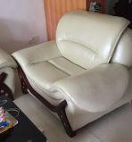Precio de fábrica de alta calidad sofá de cuero (M0406)
