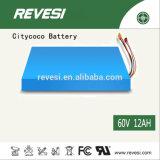 batteria di litio di 60V 12ah Citycoco per una bici elettrica/motorino/motociclo delle 2 rotelle