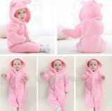 かわいいピンクの赤ん坊の摩耗の製品の赤ん坊のロンパース