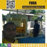 Máquina de pavimentação de bloqueio hidráulica automática dos blocos Qt4-18 em Sri Lanka