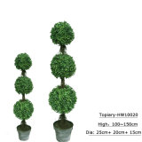 De kunstmatige Installaties van de Potten van de Bomen van het Bukshout van de Ballen van Buxus van het Gras van de Tuin Topiary