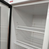 플러그 접속식 백색 색깔 편리점 유리제 문 음료 냉각기