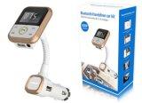 Kit Handsfree dell'automobile di Bluetooth con il trasmettitore di FM & il caricatore 2.1A