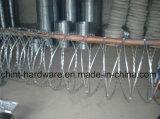공장은 직접 단 하나 유형 면도칼 가시철사 십자가 유형 가시철사를 공급한다