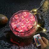 De opvlammende Waterdichte MultiKleur Met duikvermogen van de Afstandsbediening van Shisha van de Waterpijp van de Partij van het Huwelijk Lichte
