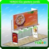 Stand d'arrêts de bus de stand de kiosque d'arrêts annonçant le kiosque d'abri