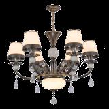 Lampada a cristallo della casa di illuminazione del lampadario a bracci di nuovo disegno 2017 con vetro (SL2271-6)