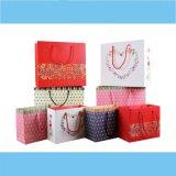 Bolsa 2016 de papel romántica modificada para requisitos particulares calidad del regalo de la venta de la fábrica