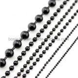 Nickel überzogene Stahlmetallwulstige Kugel-Kette