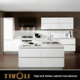 호화스러운 유럽 디자인 핑거 풀 디자인 Tivo-0031h를 가진 상한 백색 부엌 찬장