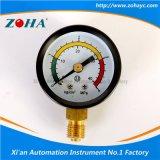 Calibres de pressão gerais com o seletor de advertência da escala dobro da cor três