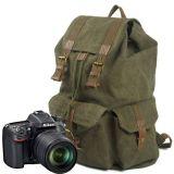 Messenger Bag Bolsa de lona em couro de ombro com câmera (RS-2138K)