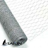 Compensation de fil hexagonale de poulet de Sailin avec le PVC galvanisé