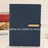 Tourillon en cuir fait sur commande neuf d'agenda de cahier de boucle avec le détenteur de carte