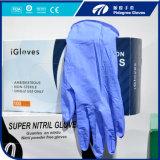 Preço econômico com as luvas descartáveis do nitrilo da boa qualidade feitas em luvas livres do pó de China