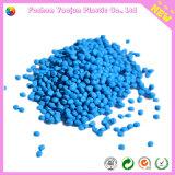 Masterbatch blu con materia prima di plastica