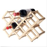 Log-Color-Madera-Rojo-Vino-Estante-Estante-Ajustable-Cocina-Vino-Rack-Bottle-Holder