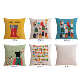 Baumwollleinendruck 18 Zoll-Sofa-Kissen für Couch