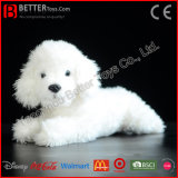 Da caniche branca macia Lifelike do cão do luxuoso de ASTM brinquedo realístico do animal enchido