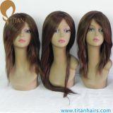 Parrucca europea dei capelli umani del Virgin della pelle sottile superiore per le donne