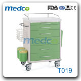 Trole de aço da medicina do carro dos cuidados do hospital com divisores