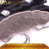 Tre onda rimbalzante peruviana del corpo dei capelli umani della chiusura della parte anteriore del merletto della parte 13*4