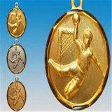 Medaglia personalizzata di palla a muro del premio dell'oro