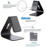 TischplattenHandy-Standplatz-Tablette-Standplatz, hoch entwickelte 4mm Stärken-Aluminiumstandplatz-Halter für Handy und Tablette