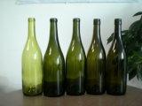 750ml antike grüne Burgunder Wein-Glasflasche