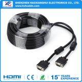 Cavo del VGA di Od5.5mm HD 15pin M/M con l'anello magnetico