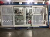 Ventana de desplazamiento de aluminio de Foshan Woodwin con el vidrio modificado para requisitos particulares