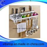 携帯用台所DIY壁に取り付けられた金属の香辛料用の棚
