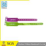 Bande de poignet de papier remplaçable d'IDENTIFICATION RF du billet 13.56MHz Ntag213 Tyvek NFC