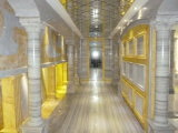 Mattonelle di lusso delle lastre del marmo di Grey d'argento per la decorazione del pavimento/parete/scale