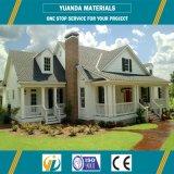Camera prefabbricata della villa di basso costo con il blocco per grafici verde della struttura d'acciaio dei materiali