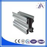 Perfil de aluminio del final Polished del cromo para las puertas de cabina