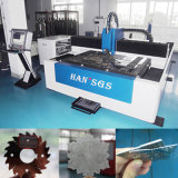 machine de découpage de laser de fibre de tôle de la commande numérique par ordinateur 500W traitant des machines