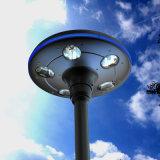 Lumière solaire de cour de seul champignon de couche du modèle DEL