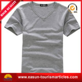 O t-shirt da V-Garganta das mulheres da forma da manufatura da fábrica aceita o logotipo