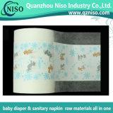 Breathable voller lamellierter Drucken PET Film für Baby-Windel-Rohstoffe (LF-012)