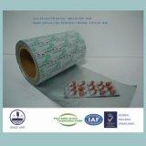 Hoja de aluminio farmacéutica de la ampolla (aleación dura H18, espesor estandardizado 0.024m m)